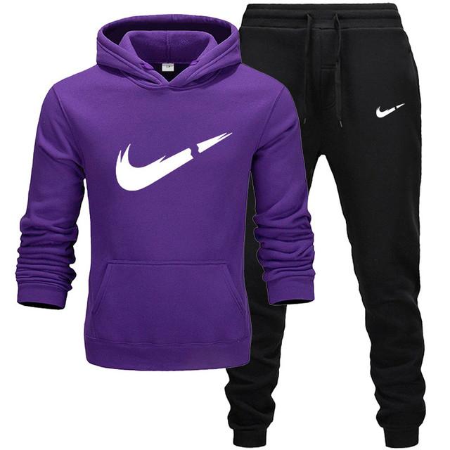 Sudaderas de moda para hombre ropa deportiva conjuntos de dos piezas
