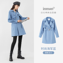 Outerwear Trench-Coat INMAN Women Spring Dust-Water Autumn Collar Oil Prevent Minimal-Design