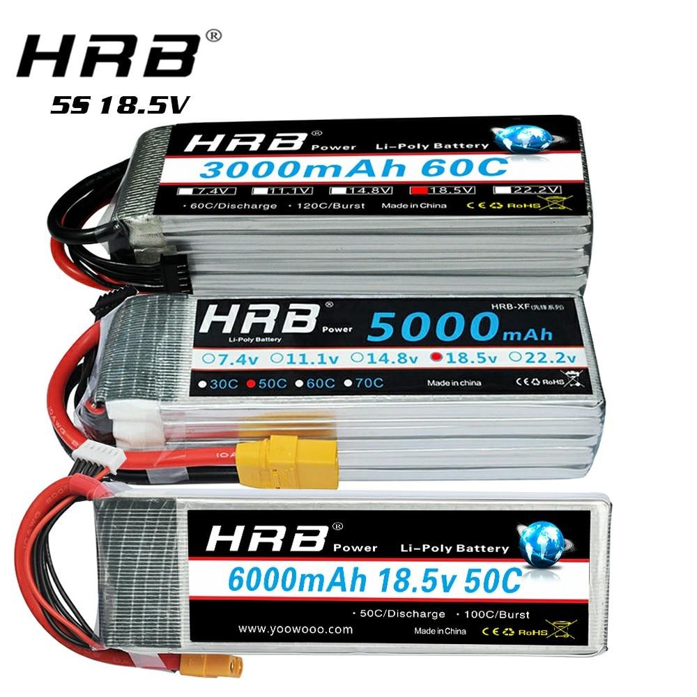 Аккумулятор HRB 5S 18,5 V Lipo 5000mah 6000mah 1800 mah 2200mah 2600mah 3000mah 3300mah 4000mah 10000mah 12000mah для вертолета 10S