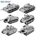 WW2 Deutsch Militär Kampfpanzer Modell Bausteine Technische Blöcke Verfolgt Gepanzerte Fahrzeug Armee Soldat Ziegel Spielzeug Für Jungen