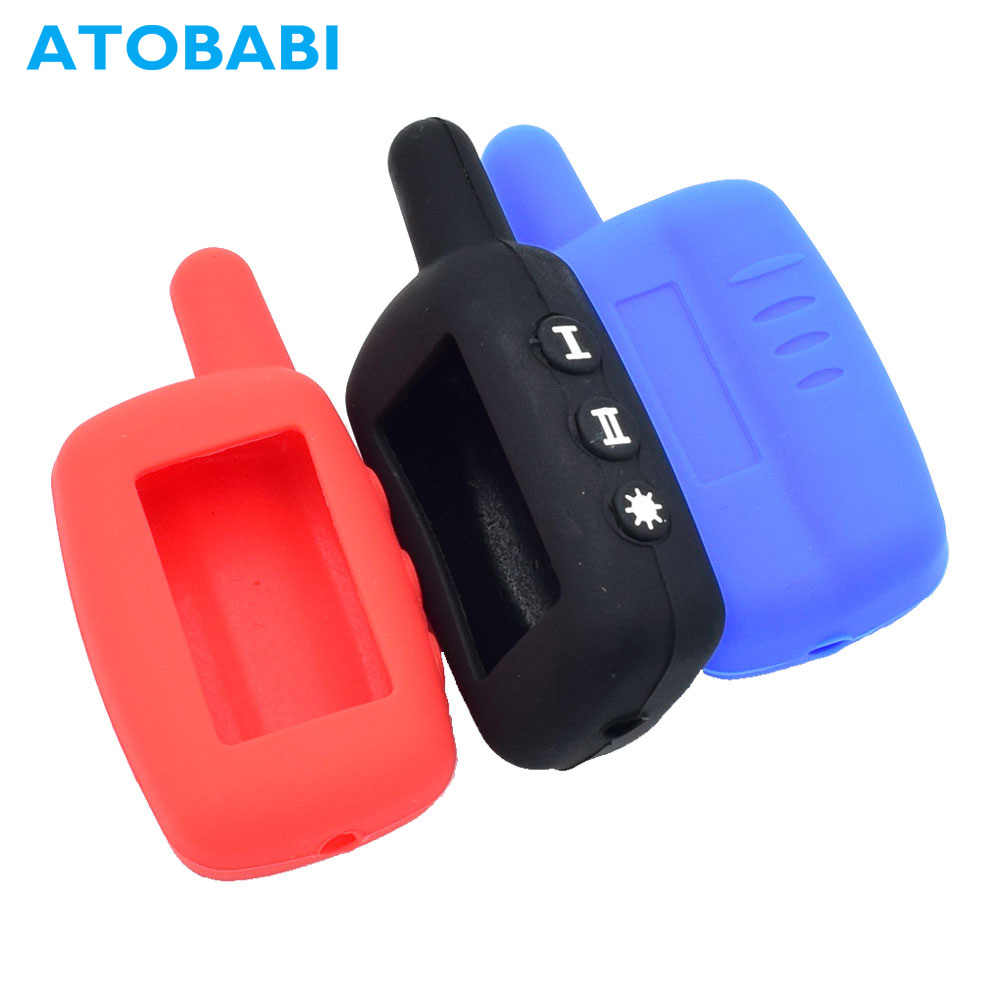 Silicone Car Key Case For Starline A4 A6 A8 A9 V5 24V Two Way Car Alarm System LCD Remote Fob Cover Protector Skin Keychain Bag