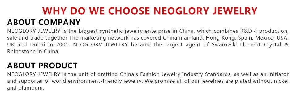 Neoglory подвески, бусины, оснастки, браслеты, модные ювелирные изделия, подарок для девочек, Новинка, украшенные кристаллами Swarovski