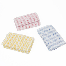 3 Pieces of Multi Function Kitchen Dish Towels Restaurant Rag Square Cleaning Cloth Cotton Scouring Pad