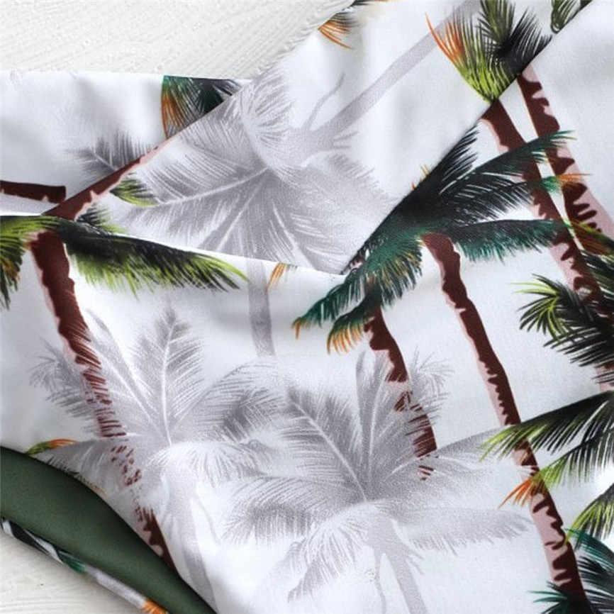 Biquinis 2020 mujer mulheres sexy impressão de coco acolchoado banho maiô beachwear biquíni tanga micro biquínis brasil