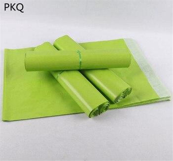 100 unids/lote nuevo bolsas de mensajería verde de auto-sello adhesivo de almacenamiento de bolsa de plástico de polietileno sobre Mailer bolsas para correo Postal