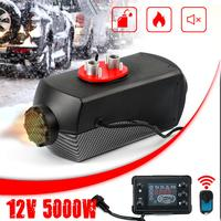 5000W Diesel Air Heater 12V LCD Monitor Air Diesels Fuel Heater Single Hole 5KW For Motorhome Trucks Boats Bus Silencer