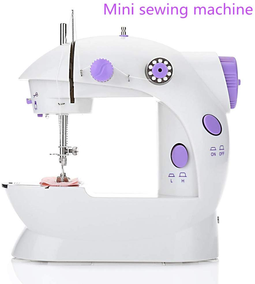 Mini Sewing Machine With Lamp Desktop Household Speed Adjustment Sewing Machine Machine with Needle Protector for Beginner image