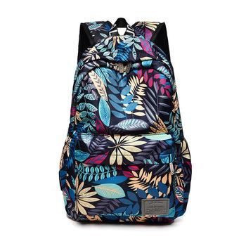 Drukuj stylu hawajskim marki 2020 plecaki do szkoły nastolatki dziewczyny torby moda kobiety plecak podróżny tanie i dobre opinie SLAMOPH Oxford Tłoczenie WOMEN Miękka 20-35 litr Wewnętrzna kieszeń Wnętrza przedziału Miękki uchwyt NONE zipper