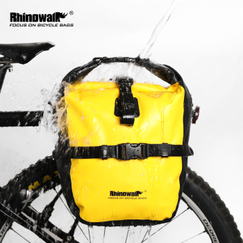 Rhinowalk 20L Bicycle Pannier Bag Bike Accessories Waterproof Portable Bike Bag Trunk Pack Cycling Bag Travel Cycling Bag
