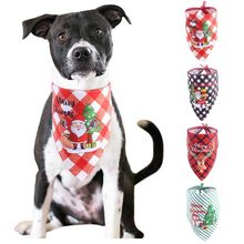 Summer&Christmas Dog Cat Bandanas Scarf Adjustable Kids/Baby Dogs Cats Bibs Triangular Bow Ties Pet Grooming Accessories 2020(China)