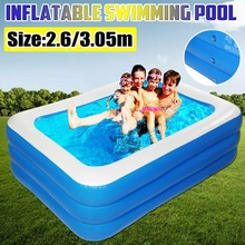 260/305CM PVC Inflatable Bathtub Foldable 3 Layers Large Family Swimming Pool Outdoor Garden Summer Inflatable Paddling Pools