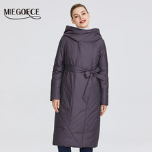 MIEGOFCE 2020 New Collection Women's Coat With a Persistent Collar Padded Jacket and Has a Belt That Will Emphasize The Figure(China)
