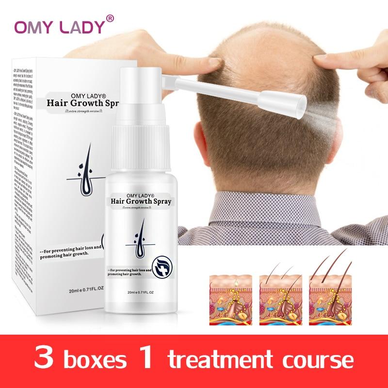 OMY LADY, Spray líquido para el crecimiento del cabello, cuidado del cabello, aceites esenciales mejora la pérdida de cabello, mejora la raíz del cabello, suero, esencia para el cuidado del cabello Productos anticaída del cabello    - AliExpress