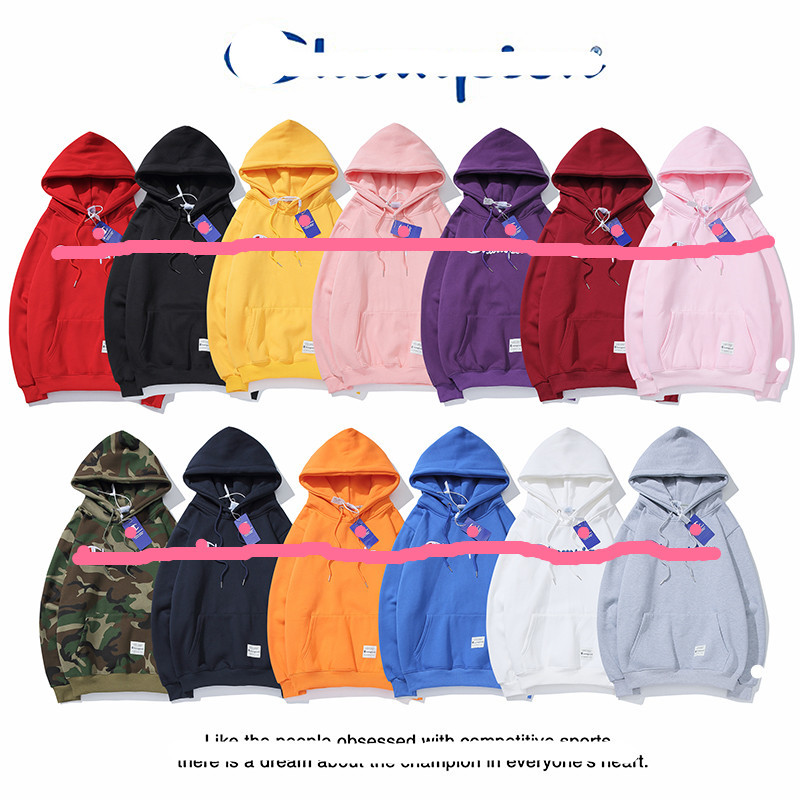 2019 Autumn And Winter New Style Japanese-style Large C Fashion Stereo Cursive Embroidered Alphabet Plus Velvet Hoodie Men And W