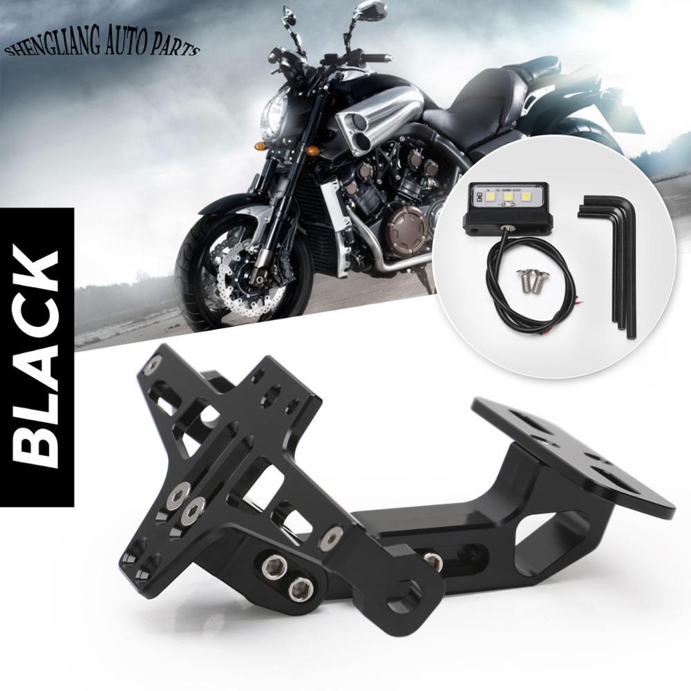 Artudatech Motorcycle License Plate Bracket Moto Adjustable Fender Eliminator Plate Bracket License Plate Holder for K-T-M DUKE 390 2017-2018