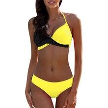 Womens acolchoado push-up sutiã conjunto de biquíni maiô maiô beachwear vitalidade sexy biquinis sólido push up bikini 2021