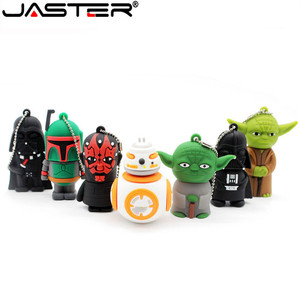 Image 2 - JASTER usb 플래시 드라이브 스타 워즈 펜 드라이브 4GB/8GB/16GB/32GB/64GB 스타 워즈 다크 다스 베이더 요다 pendrive 메모리 스틱 u 디스크