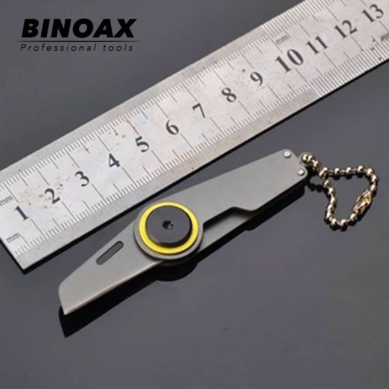 Binoax Mini Folding Knife Serge Tactical Camping Hunting Key Chain Pocket Bean Knives Handle EDC Multi Tools