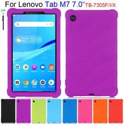Силиконовый чехол для Lenovo YOGA Tab M7 7,0 дюймов TB-7305F TB-7305X TB-7305i планшет безопасный мягкий чехол-подставка Funda оболочки для детей