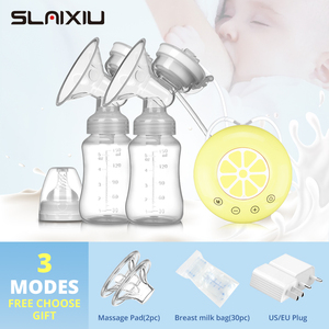 Single/Double Electric Breast Pump USB Electric Breast Pump With Baby Milk Bottle Cold Heat Pad BPA free Powerful Breast Pumps(China)