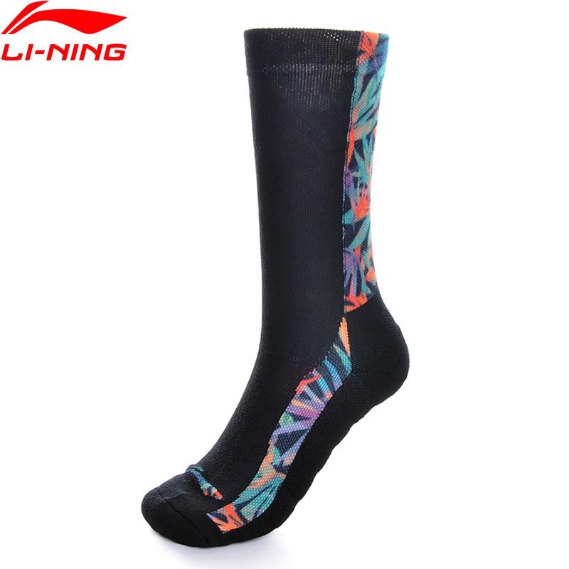 Li-Ning Men The Trend Sports Socks 24-26 Cm Polyester Cotton Acrylic Spandex LiNing Li Ning Fitness Comfort Socks AWLP037 NWM460