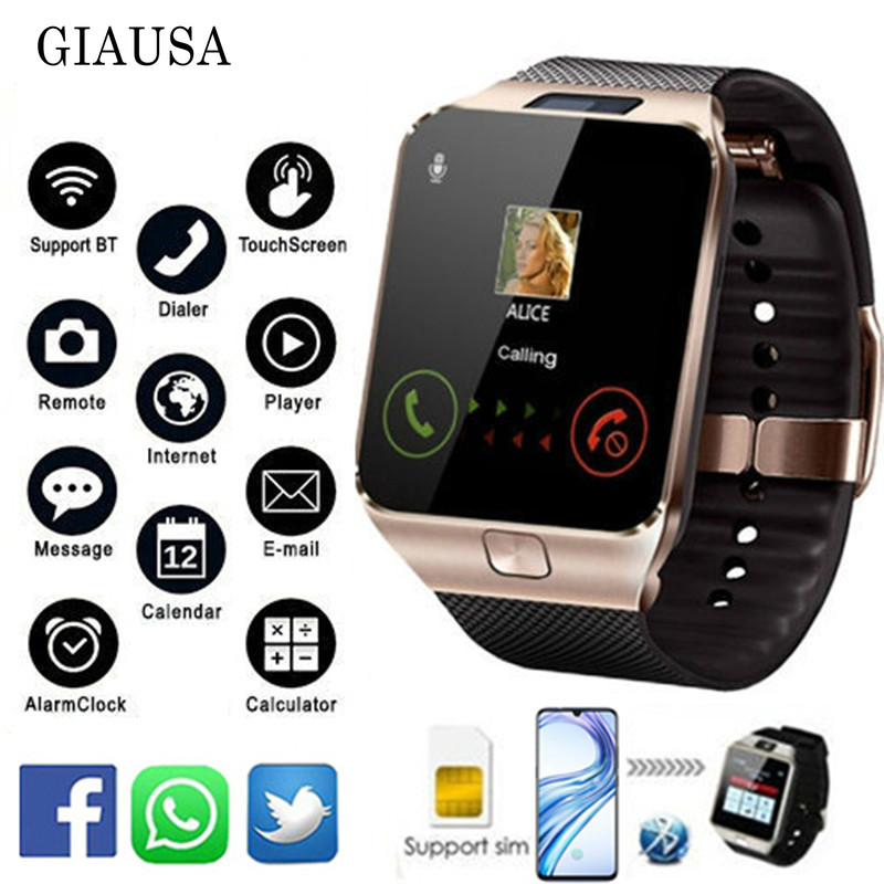 Bluetooth Smart Watch DZ09 Relojes Smartwatch Relogios TF SIM Camera for IOS font b iPhone b