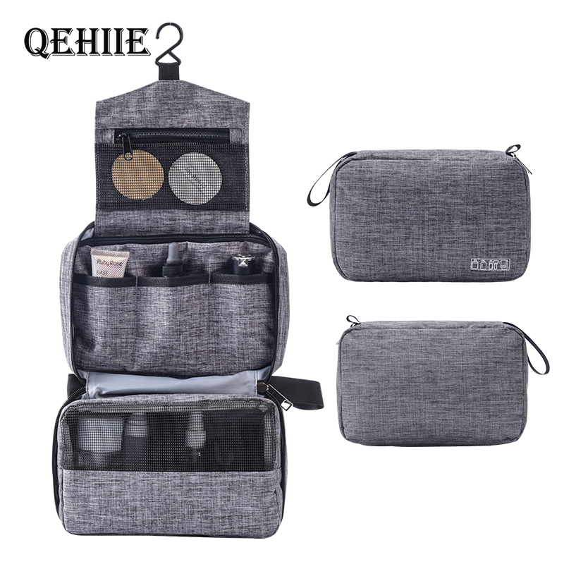 New Hanging Travel Make Up Bag Hanging Cosmetic Bags Waterproof Large Travel Beauty Cosmetic Bag Personal Hygiene Bag Organizer