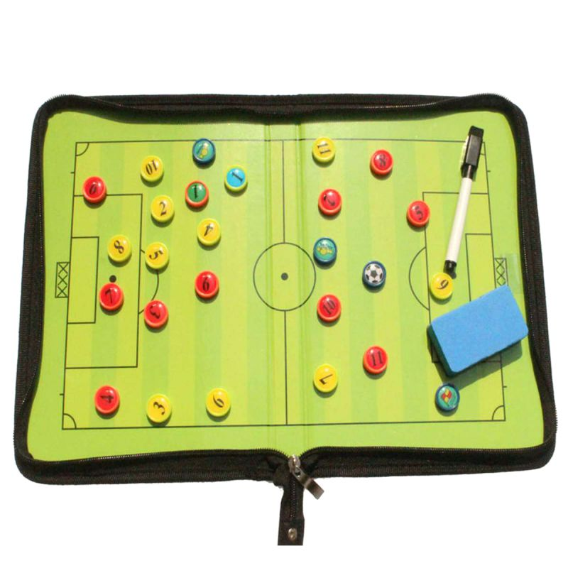 Updated Foldable Tactic Soccer Board Magnetic Soccer Scoreboard Soccer Training Clipboard Soccer Table