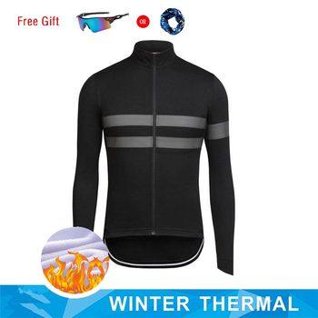 Pro Team wysokiej jakości jazda na rowerze koszulka Jersey zimowa z długim rękawem i długim rękawem wyścigi jazda na rowerze odzież sportowe na świeżym powietrzu klasyczny krawat tanie i dobre opinie Moxilyn Poliester Kaszmirowy Pełna Unisex cycling jersey winter thermal fleece Koszulki Zamek na całej długości Pasuje prawda na wymiar weź swój normalny rozmiar