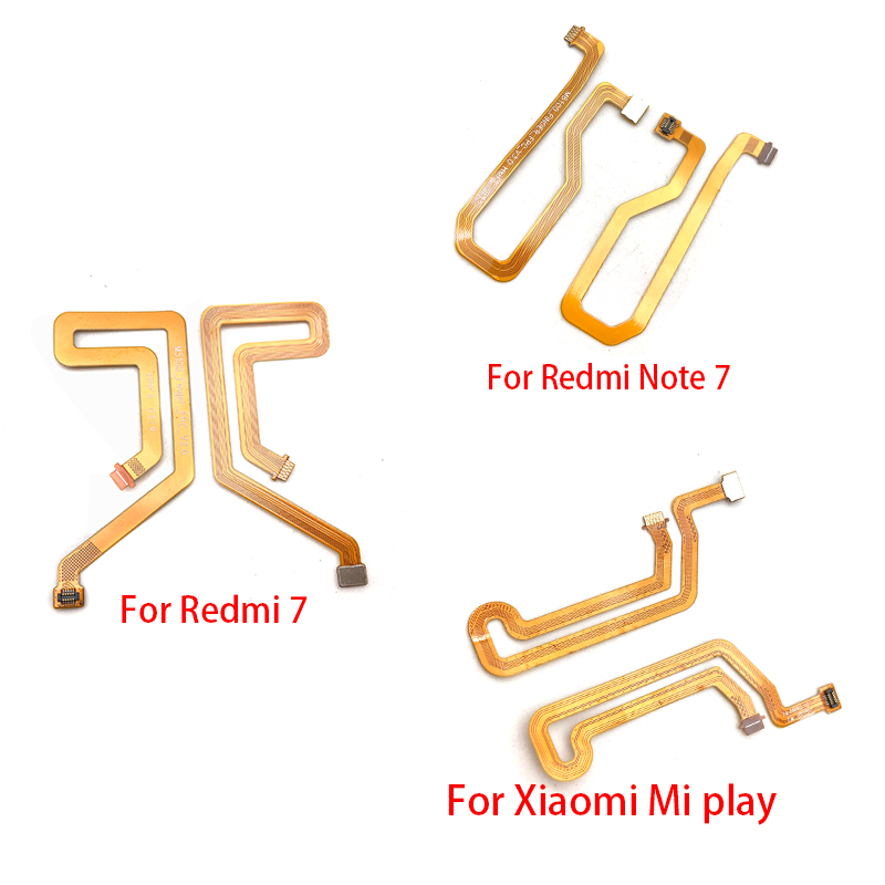 New Fingerprint Sensor Scanner Touch ID Connect Motherboard Home Button Flex Cable For Xiaomi Redmi 7 / Redmi Note 7 / Mi Play