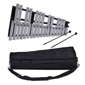 Image 3 - 30 ملاحظة قابلة للطي glockenspel إكسيليفون إطار خشبي قضبان ألومنيوم تعليمية قرع آلة موسيقية هدية