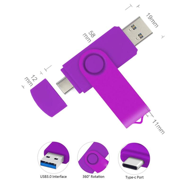 Memoria USB 3.0 OTG Pendrive 128 GB USB Flash Drive 512GB 256GB 128GB 64GB 32GB Cle USB Type C Pen Drive Flash Disk Memory Stick