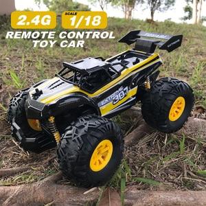 Image 2 - Carro rc 2.4g 1/18 monster truck carro de controle remoto brinquedos controlador modelo fora de estrada veículo caminhão 15 km/h controle de rádio carro de brinquedo carros