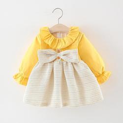 Вечернее платье для девочек 1 года, осенняя юбка для девочек, одежда с длинным рукавом, детская одежда, платье на день рождения для маленьких ...