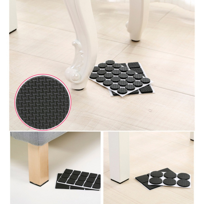 1 Set Chair Leg Pads Floor Anti Scratch Protectors For Furniture Legs Table Leg Covers Round Bottom Anti Slip Floor Rubber Pads