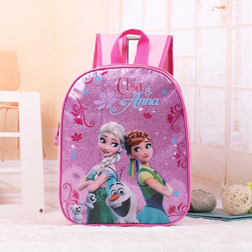 Hot Girls Cartoon Snow Queen Schoolbag Kids Lovely Princess Backpack Cute Brand Toddler Kids Boys Schoolbags
