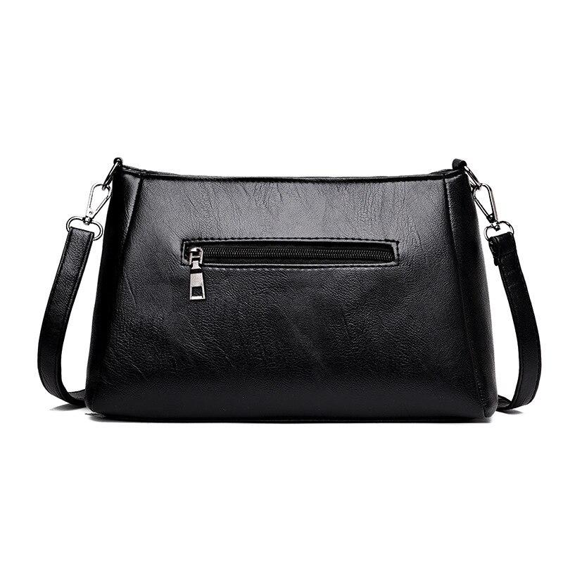 Leather Handbag Purses Shoulder Bags Envelope Crossbody Bag For Ladies Mini Solid Color Square Women Leather Messenger Bag