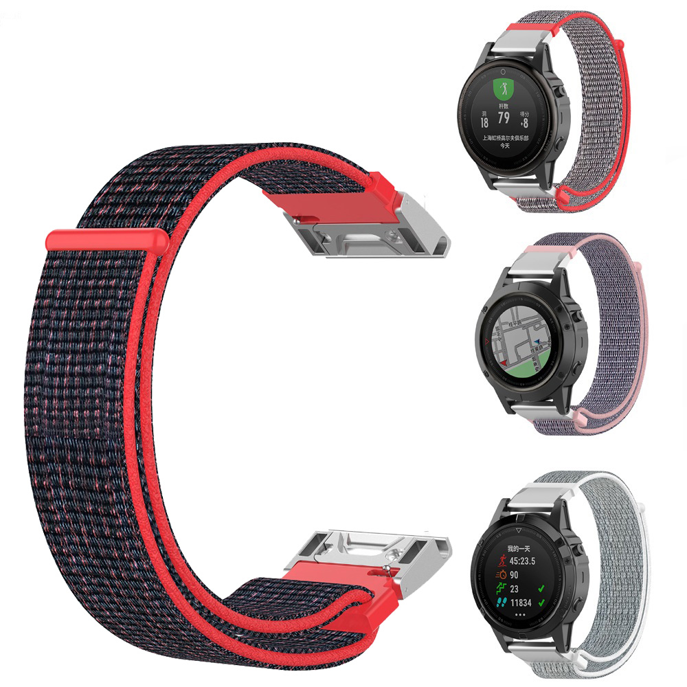 26mm Quick Fit Watch Band Lightweight Nylon Loop For Fenix 5X Plus Soft Sport Breathable Wristband Strap For Garmin Fenix 5X 3