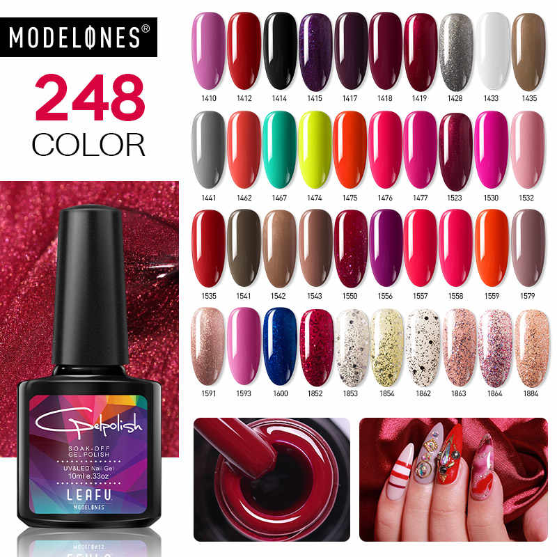 Modelones Gelpolish de uñas de Gel, soak off UV Gel Polish barniz Color Nude Gel UV Base capa superior lámpara UV diseño de Arte de uñas de Gel laca