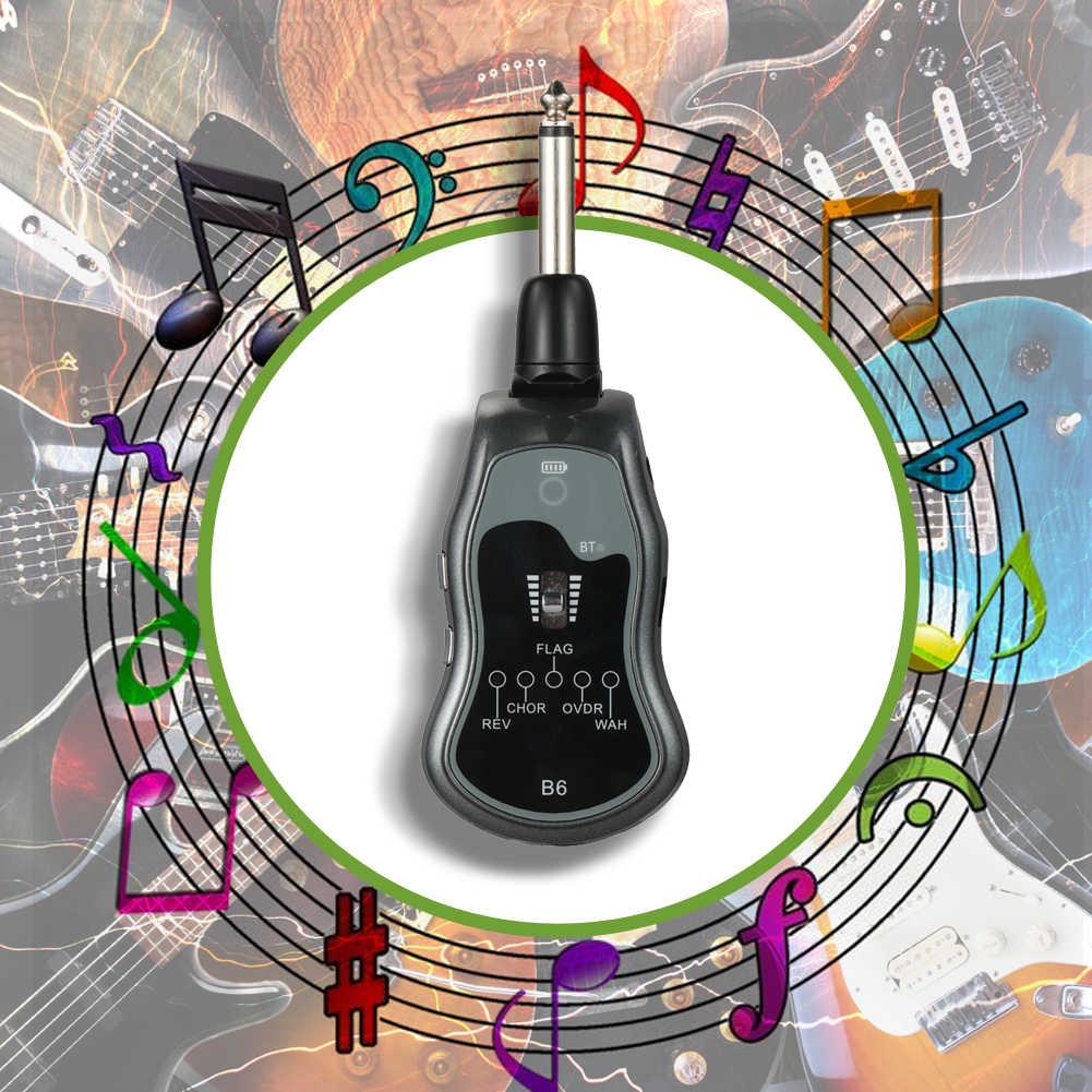 5 en 1 2.4G sans fil guitare transmetteur Audio 6 canaux guitare sans fil émetteur récepteur pour guitare électrique basse