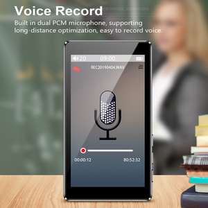 """Image 4 - RUIZU D20 3 """"كامل شاشة تعمل باللمس مشغل MP3 8 جيجابايت مشغل موسيقى مع راديو FM مشغل فيديو الكتاب الإلكتروني مشغل MP3 مع المدمج في مكبر الصوت"""