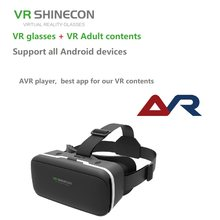 VR SHINECON BOX VR 3D Glasses Virtual Reality Glasses Headset For Google cardboard for smartphone with one year xxx movies(China)