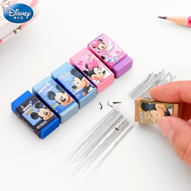 Disney Cartoon Suit Rubber Mickey Minnie Cute Stationery School Supplies Cute Gifts Erasers For Kids