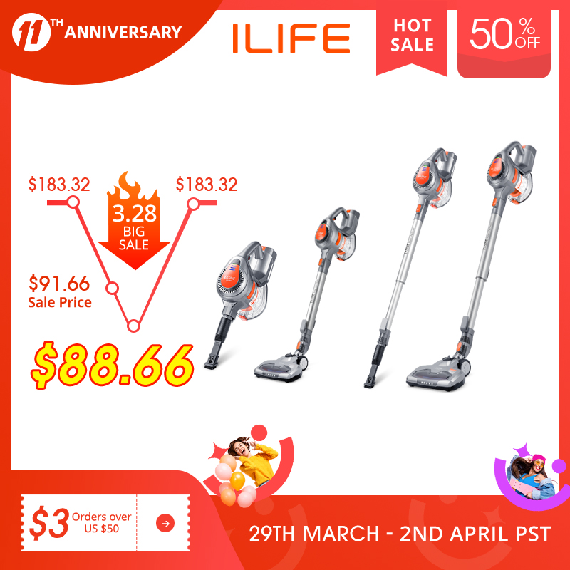 EASINE by ILIFE H55 Handheld Vacuum Cleaner – 10,500Pa Strong Suction Power, Cordless Stick Aspirator - 35 Minutes Working Time 1