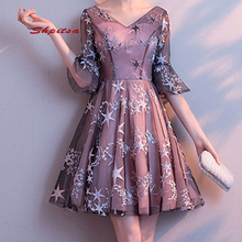 Seksowne krótkie suknie balowe Plus rozmiar kobieta Party Cocktail Homecoming formalne suknie wieczorowe suknie tanie tanio shpitsa STRAPLESS Połowa NONE Powyżej kolana Mini Prom dresses REGULAR Tulle PATTERN Illusion Naturalne Poliester -Line