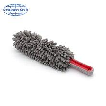 אבק הדאסטר אפור אליפסה Chenille מיקרופייבר מוליך רכב לשטוף אביזרי בד עבור אוטומטי המפרט כביסה ניקוי