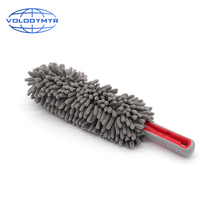 Dust Duster Gray Ellipse Chenille Microfiber Applicator Car Wash Accessories Cloth for Auto Detailing Washing Cleaning