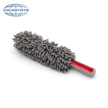 Pó duster cinza elipse chenille microfibra aplicador lavagem de carro acessórios pano para auto detalhando limpeza de lavagem