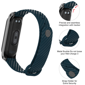 Image 2 - Yayuu Correa de silicona de fibra de carbono para Xiaomi Mi Band 5 4, pulsera inteligente para Mi Band 4 3