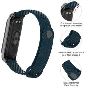 Image 2 - Yayuu Silicone fibre de carbone Bracelet de montre pour Xiaomi Mi bande 5 4 Bracelet intelligent pour Mi bande 4 3 Bracelet Bracelet